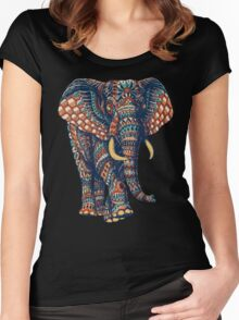 Ornate Elephant v2 (Color Version) Women's Fitted Scoop T-Shirt
