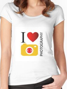 I love photography Women's Fitted Scoop T-Shirt