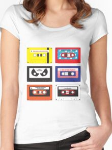 Cassettes Soundtracks Women's Fitted Scoop T-Shirt