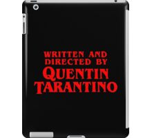 Written and directed by Quentin Tarantino iPad Case/Skin