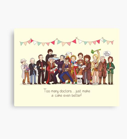 The Great Doctor Bake-Off Canvas Print