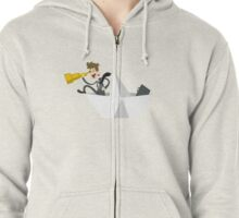 Business Man Finding treasure Zipped Hoodie