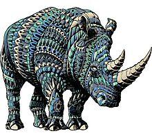 Rhino (Color Version) Photographic Print