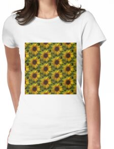 Lost In The Crowd Womens Fitted T-Shirt