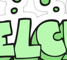 cartoon belch text Sticker
