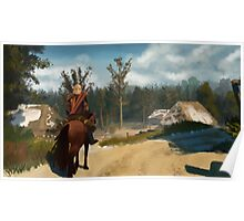 Witcher 3 Landscape Painting Poster