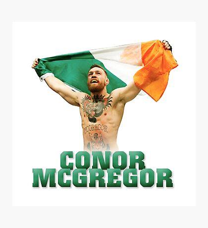 Conor McGregor - Flag Photographic Print