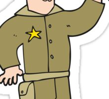 cartoon sheriff Sticker