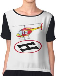 Landing helicopter Chiffon Top
