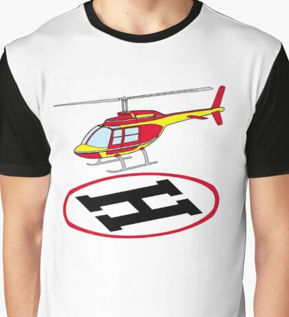 Landing helicopter Graphic T-Shirt