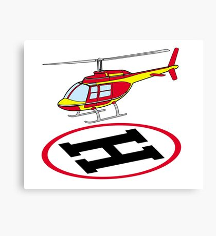 Landing helicopter Canvas Print