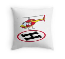 Landing helicopter Throw Pillow