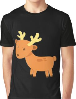 Lovely Cute Small Deer Vector Graphic Graphic T-Shirt