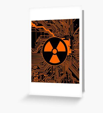 Cybergoth - Radioactive (orange) Greeting Card