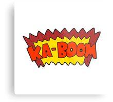 cartoon comic book explosion Metal Print
