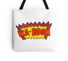 cartoon comic book explosion Tote Bag