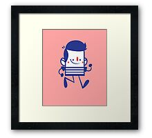 Funny Lovely Cartoon Vector Graphic Animinated Framed Print