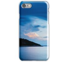 Storm moving in over Veli Osir Island at sunrise iPhone Case/Skin
