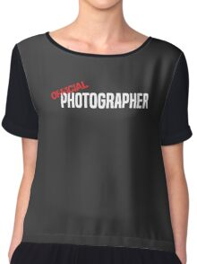Official Photographer Funny Chiffon Top