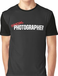 Official Photographer Funny Graphic T-Shirt