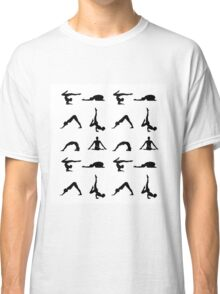 Yoga poses silhouette  Classic T-Shirt