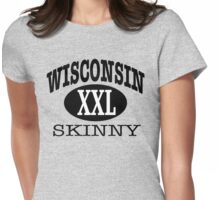 Wisconsin Skinny XXL Womens Fitted T-Shirt