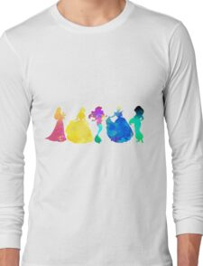 Princesses Inspired Silhouette Long Sleeve T-Shirt