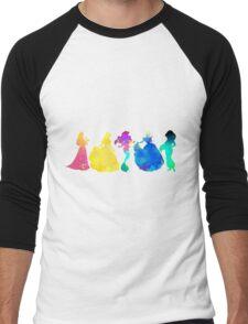 Princesses Inspired Silhouette Men's Baseball ¾ T-Shirt