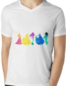 Princesses Inspired Silhouette Mens V-Neck T-Shirt