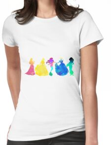 Princesses Inspired Silhouette Womens Fitted T-Shirt