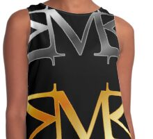Alphabet M logo in gold and silver  Contrast Tank