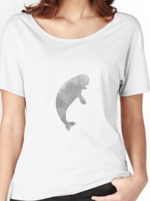 Beluga whale inspired silhouette Women's Relaxed Fit T-Shirt