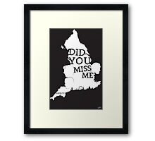 Sherlock: Did you miss me?  Framed Print