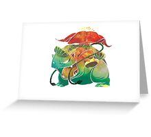 Venasaur texture Greeting Card