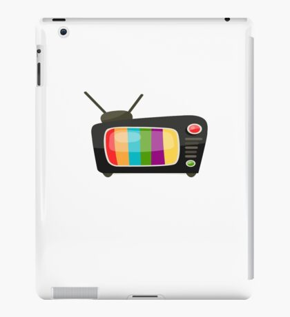 Colourful Vintage Tv Vector Graphic iPad Case/Skin