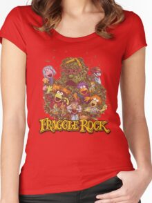 Fraggle Rock Retro Design Women's Fitted Scoop T-Shirt