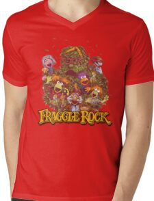 Fraggle Rock Retro Design Mens V-Neck T-Shirt