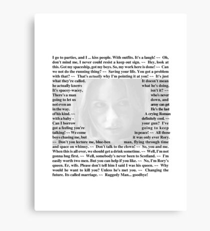 Doctor Who - Quotes from Amy Pond Canvas Print