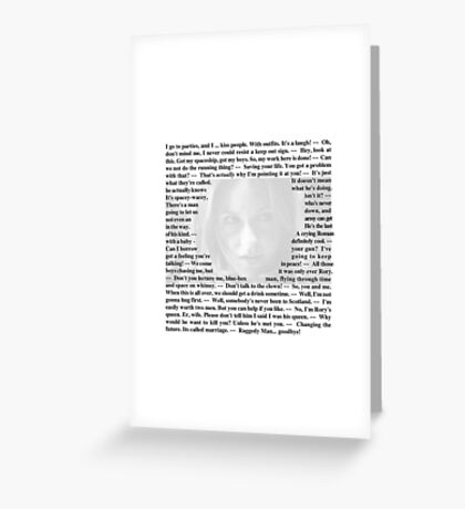 Doctor Who - Quotes from Amy Pond Greeting Card