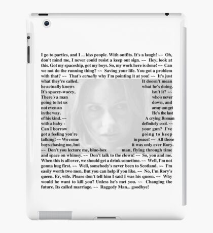 Doctor Who - Quotes from Amy Pond iPad Case/Skin