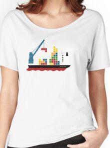 Cargo Tetris Ship Women's Relaxed Fit T-Shirt