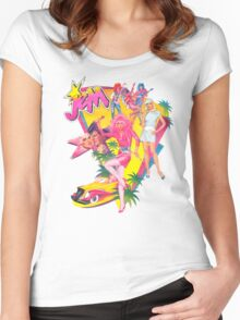 Jem and the Holograms Retro Women's Fitted Scoop T-Shirt