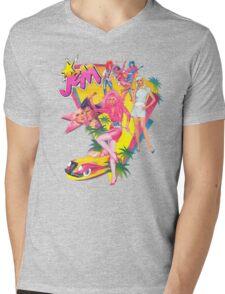 Jem and the Holograms Retro Mens V-Neck T-Shirt