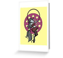 Unicorn Hooper Mandala Greeting Card