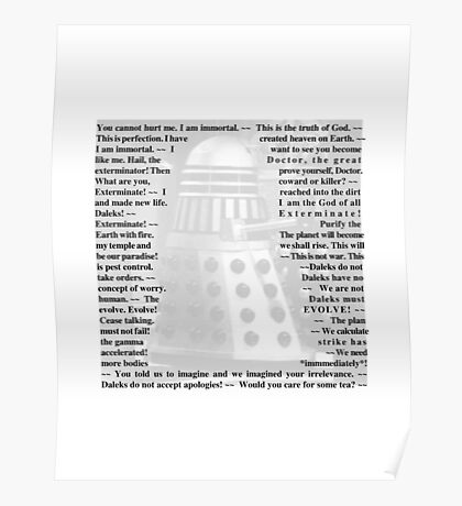 Doctor Who - Quotes from the Daleks Poster