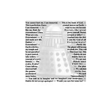Doctor Who - Quotes from the Daleks Photographic Print