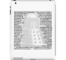 Doctor Who - Quotes from the Daleks iPad Case/Skin