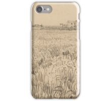 Field with Farmhouses Arles, April 1888 Vincent van Gogh iPhone Case/Skin