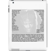 Doctor Who - Quotes from Madam Vastra iPad Case/Skin