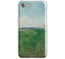 Field with Poppies Arles, May  Vincent van Gogh iPhone Case/Skin